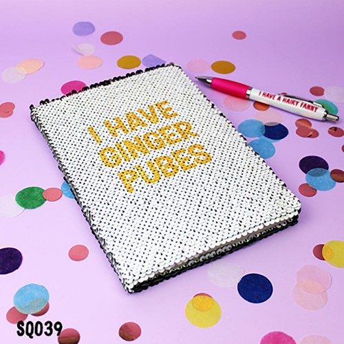 Ginger Pubes Sequin Notebook