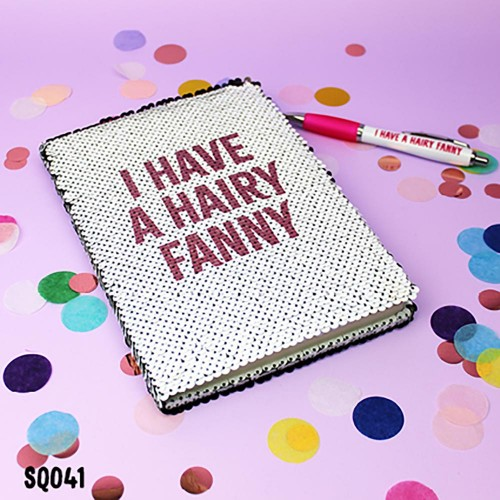 Hairy Fanny Sequin Notebook