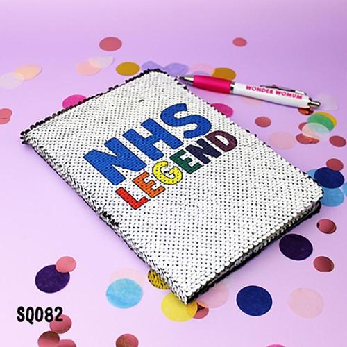 NHS Legend Sequin Notebook