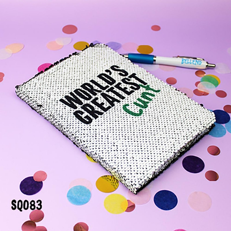 World's Greatest Cunt Sequin Notebook