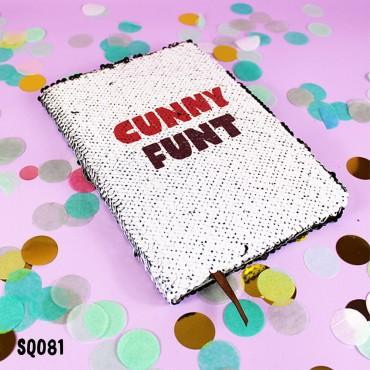Cunny Funt Sequin Notebook