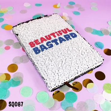 Beautiful Bastard Sequin Notebook