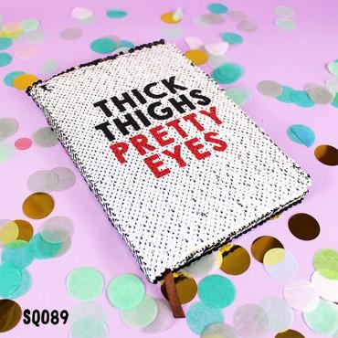 Pretty Eyes Sequin Notebook