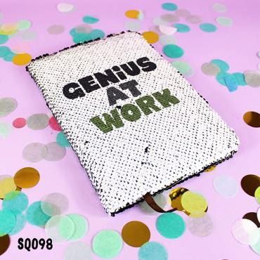 Genius at Work Sequin Notebook