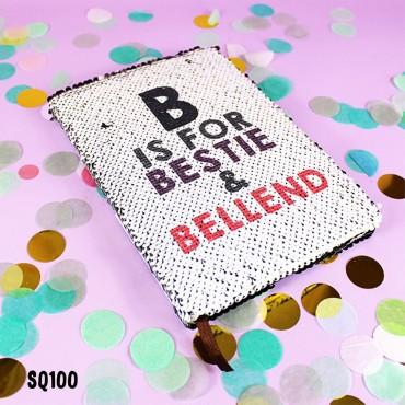 B is for Bestie Sequin Notebook
