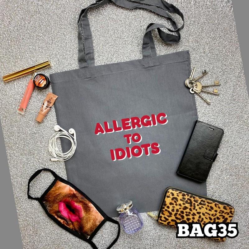 Allergic Idiots Tote Bag