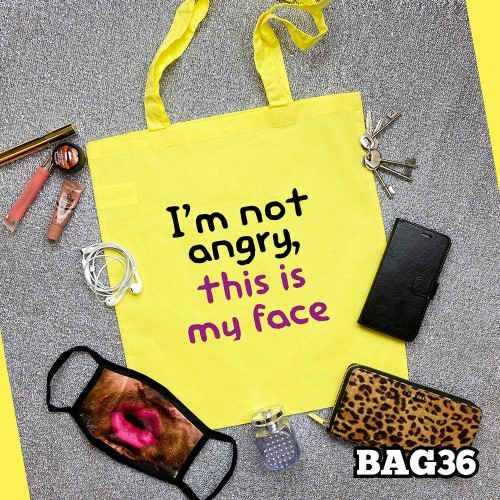 Angry Face Tote Bag