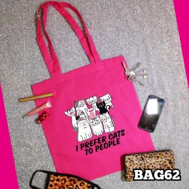 Prefer Cats Tote Bag