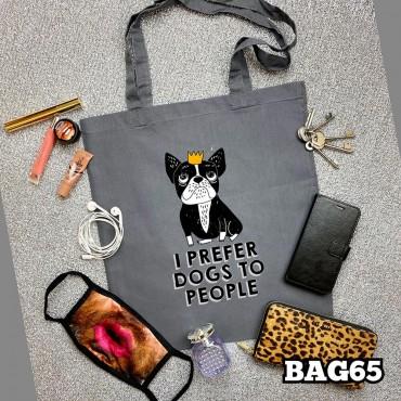 Prefer Dogs Tote Bag