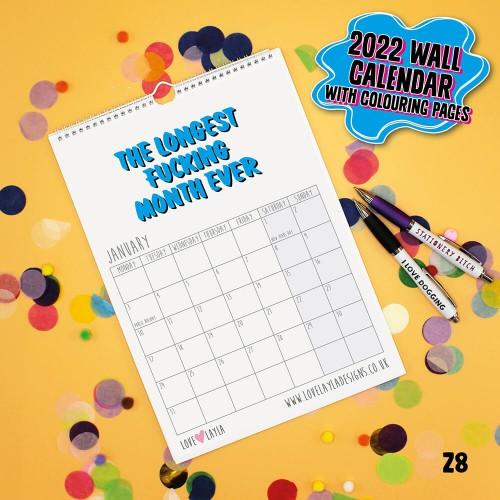Sweary Wall Calendar 2022