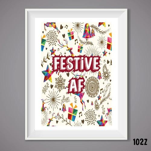 Festive AF Wall Print