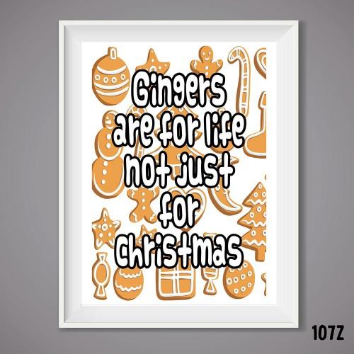 Ginger Xmas Wall Print