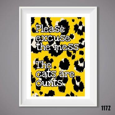 Mess Cats Wall Print