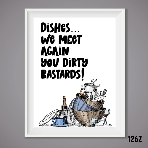Dishes Print