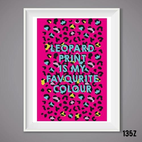 Leopard Print Colour Print
