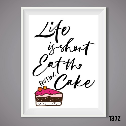Eat Cake Print