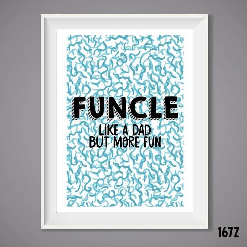 Funcle Wall Print