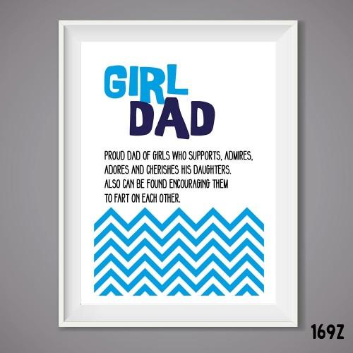 Girl Dad Print