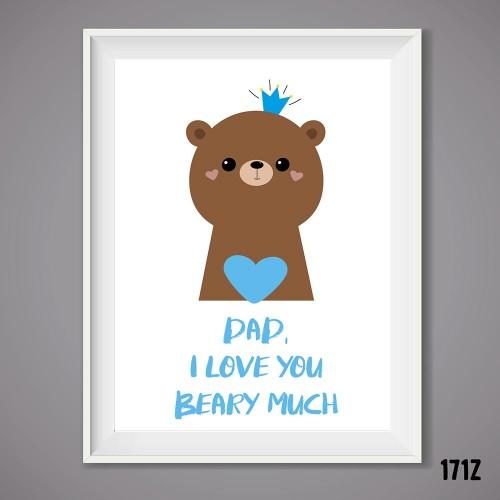 Dad Beary Print