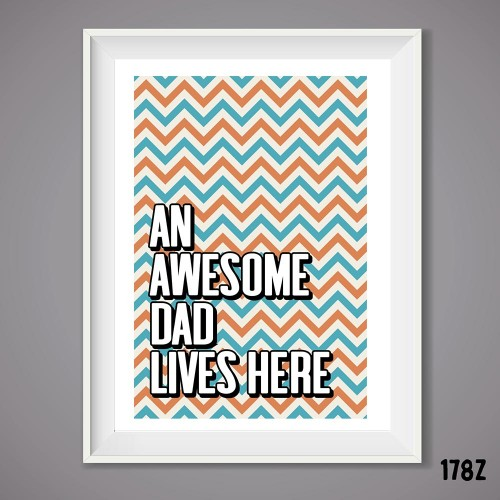 Awesome Dad Print