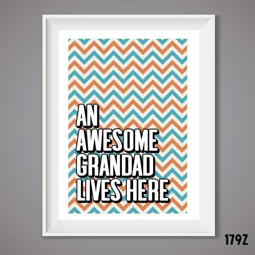Awesome Grandad Print