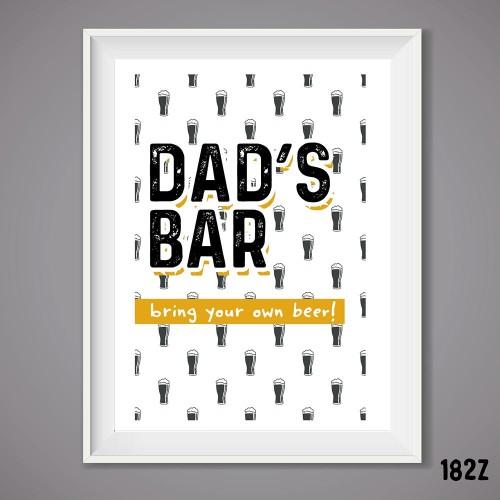 Dad's Bar Print