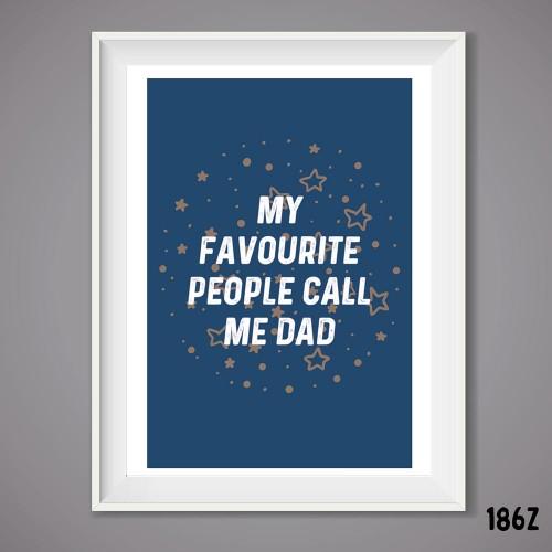 Fave Dad Wall Print