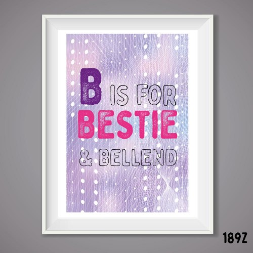 B is For Wall Print