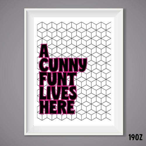 Cunny Funt Wall Print