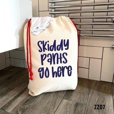 Skiddy Pants Laundry Bag