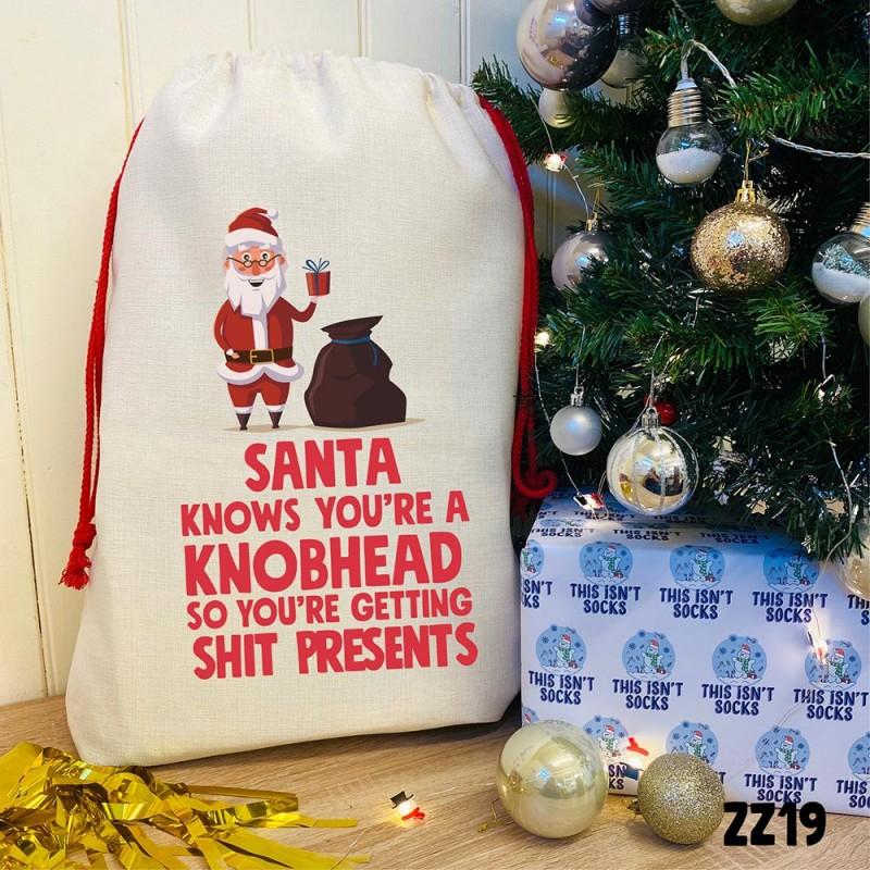 Santa Thinks Sack
