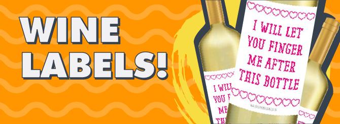 Valentines Wine Labels